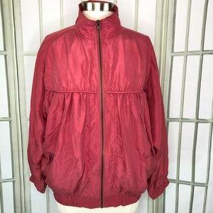 Vintage Womens Size Medium Silk Jacket Windbreaker